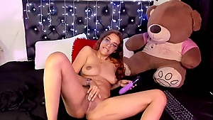 Daddy's Clever Girl Found A Purple Dildo