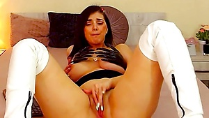 EllaJenner's Pussy Swallows That Dildo While Remote Toy Is Buzzing Inside Of Her